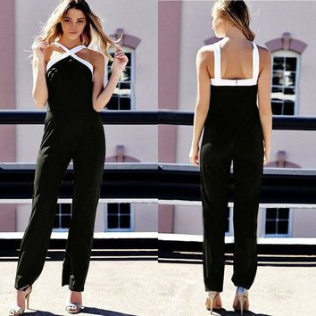 Women Jumpsuit Overall Clubwear Fashion Ladies Sleeveless Jumpsuits Women Straight Jumpsuits Women Clothing