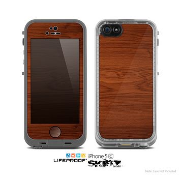 The Rich Wood Texture Skin for the Apple iPhone 5c LifeProof Case