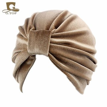 NEW women Velvet Turban lady Fashion Hair Wrap Bohemian Style Hair Accessories