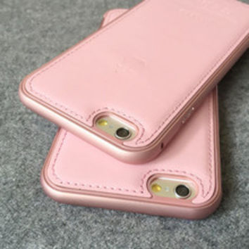 Pink Black Leather Phone Cases for Iphone 6 / Iphone 6 Plus-004-05-Girllove100