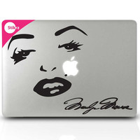Marilyn Decal Macbook Decal Sticker for your computer, laptop, board, or wall - Marilyn Monroe - Decal 183