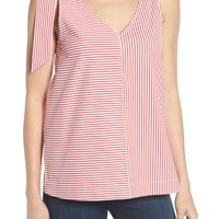 vineyard vines Sleeveless Striped Bow Top | Nordstrom