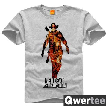 Red Dead Redemption Revolver Rockstar John Print Original Design Fashion Style Casual Cotton Tshirt T shirt TEE Free Shipping