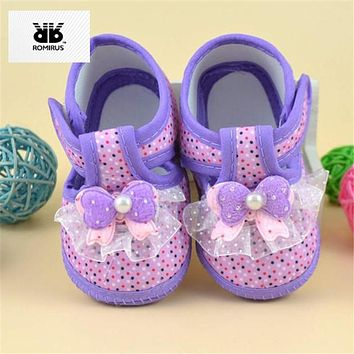 ROMIRUS Baby Girls Shoes Bebek Ayakkabi Chaussure Bebe Fille Soft Sole Shoes For Babies Sapato Bebe Menina Sneakers Baby Booties