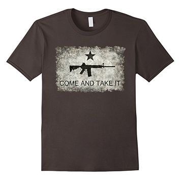 Vintage Texas Come and Take it Flag with Black Gun T-Shirt