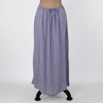 Purple Skirt Women XL 2X Maxi Skirt Rayon Hippie Skirt Long Boho Skirt Drawstring Waist Plus Size Clothing Vintage Clothing Womens Clothing