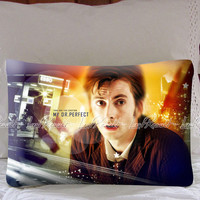 David Tennant Dr Who on Decorative Pillow Covers