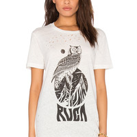 RVCA Mate Graphic Tee in Vintage White