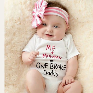 Baby Romper Clothes Letter Print Newborn Girl Boy Jumpsuits Cotton Short Sleeve Infant Clothing for Spring Summer YB273