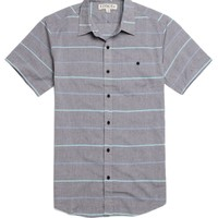 Ezekiel Fine Line Short Sleeve Woven Shirt - Mens Shirt - Black -