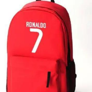 Cristiano Ronaldo CR7 Anime Bags Mochila Feminina Cartoon Backpacks Foot Ball Oxford Unisex Kids Backpack Portugal Backpack Bags