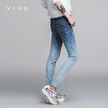 VING Women Autumn Winter New Arrival  Skinny Jeans Pants Full Length Mid Waist  Pencil Pants Lady Fashion XXL Loose Trousers