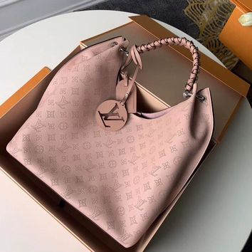 Louis Vuitton LV Pink Women Leather Shoulder Bag Crossbody Satchel Handbag