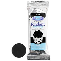 Black Satin Ice Fondant 4 oz