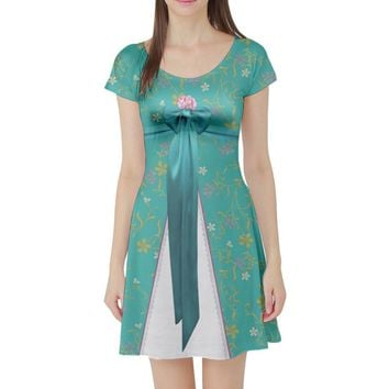 Giselle Enchanted Inspired Short Sleeve Skater Dress