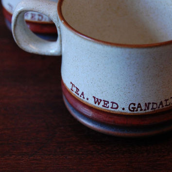 Tea Gandalf Wednesday MugsSet of Two by araneldesigns on Etsy