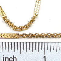 Gold-Plated Chain _#24: Bar and Cable Chain by the foot - $3.49 at www.OhioBeads.com