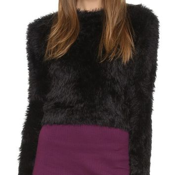 Brushed Cropped Sweater