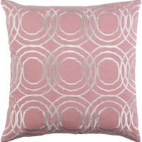 Ridgewood Throw Pillow Pink, Neutral