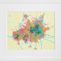 prettymaps (dallas/fort worth), by Aaron Straup Cope - 20x200