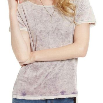 ICIKHB3 Free People | Washed Velvet Tee