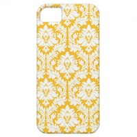 Sunny Yellow Damask iPhone 5 Cases