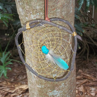 GRAPEVINE DREAM CATCHER Turquoise Macaw