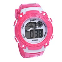 2017 Girls Digital LED Quartz Alarm Date Sports Wrist Watch.