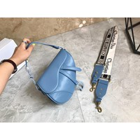 8-31【NEW】Dior Lady Saddle Bag Counter New Joker Fashion Leather Shoulder Crossbody Bag
