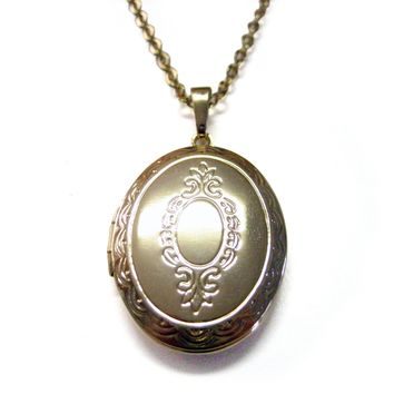 Golden Locket Pendant Necklace