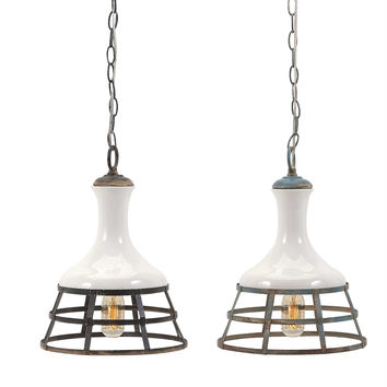 Captivating Sandra Ceramic and Metal Pendant Lights ? Assorted 2
