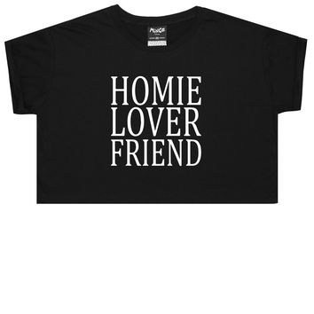 HOMIE LOVER FRIEND CROP TOP