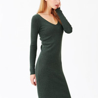 Knit Green Bodycon Midi Dress