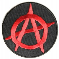 Anarchy Patch 3 inch Round Iron on Patch