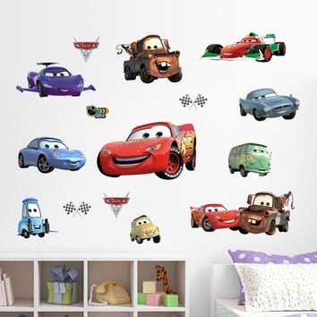 Cartoon Cars Truck Wall Decorative Stickers For Boys Room Kids Communication Tools Mural Adhesive Home Decor Decal Gift For Baby