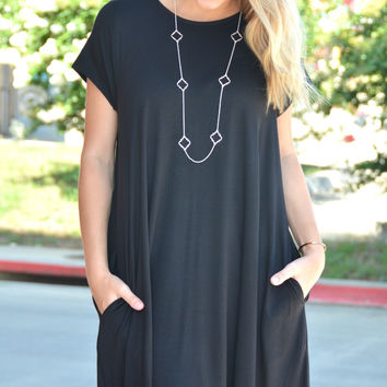 Simple And Classic Dress - Black