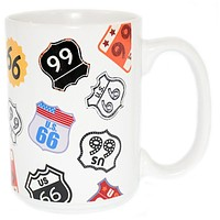 disney parks authentic us route 66 ceramic coffee mug cup new