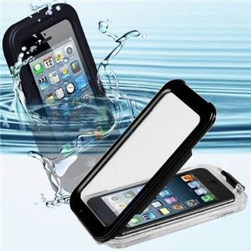 CyberTech 25ft Waterproof Shockproof Dirt Proof Sand Proof Silicon Touch Screen Case for iPhone 5 / 5C / 5S (Black)