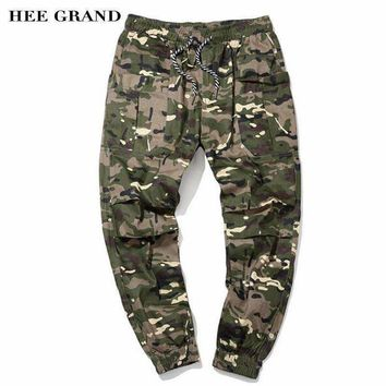 Hee Grand Men Casual Cargo Pants Arrival 100% Cotton Breathable Material Camouflage Slim Cuff Pants Size M-5Xl Mkx1351