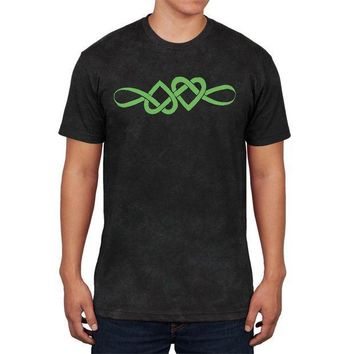 ESBGQ9 Irish Celtic Infinite Love Knot Mens Soft T Shirt