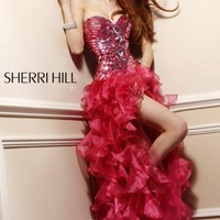 Ruffled Layered Gown by Sherri Hill