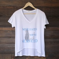 mermaids smoke seaweed t shirt