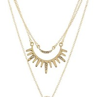Gold Rhinestone Charm Necklaces - 3 Pack by Charlotte Russe