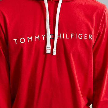 Tommy Hilfiger Hooded Long Sleeve Tee | Urban Outfitters