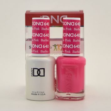 DND Daisy Soak Off Gel Polish + Matching Nail Polish Duo 640 Barbie Pink