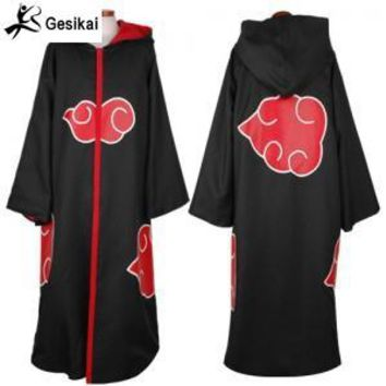 Naruto Sasauke ninja 24 Hrs  Out Japanese Anime Akatsuki Cloak  costume Akatsuki Organization Members Cloak Ninja Uniform Sasuke Robe AT_81_8