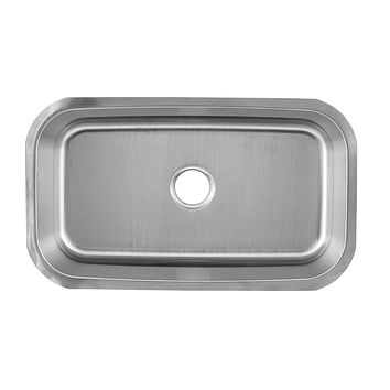 DAX-3018 / DAX SINGLE BOWL UNDERMOUNT KITCHEN SINK, 18 GAUGE STAINLESS STEEL, BRUSHED FINISH