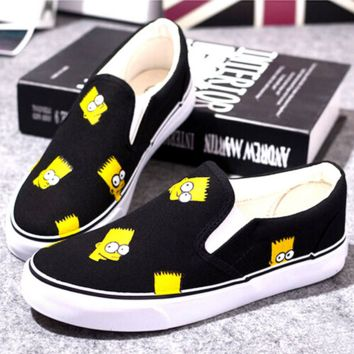 Simpsons Hand Painted Canvas Shoes
