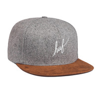 HUF - WOOL SCRIPT STRAPBACK SP15 // GRAY HEATHER