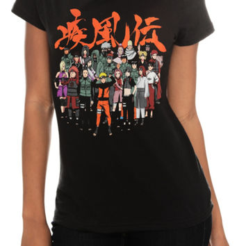 Naruto Shippuden Group Girls T-Shirt